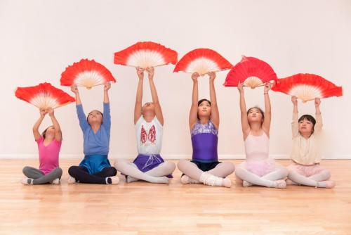 Chinese children dance class in Canada Water studio