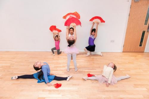 Chinese dance for Children in Canada Water studio