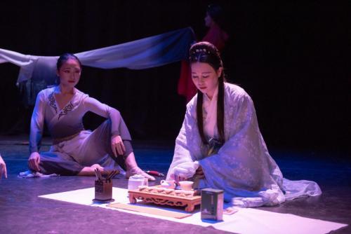 Sword Dance with tea art